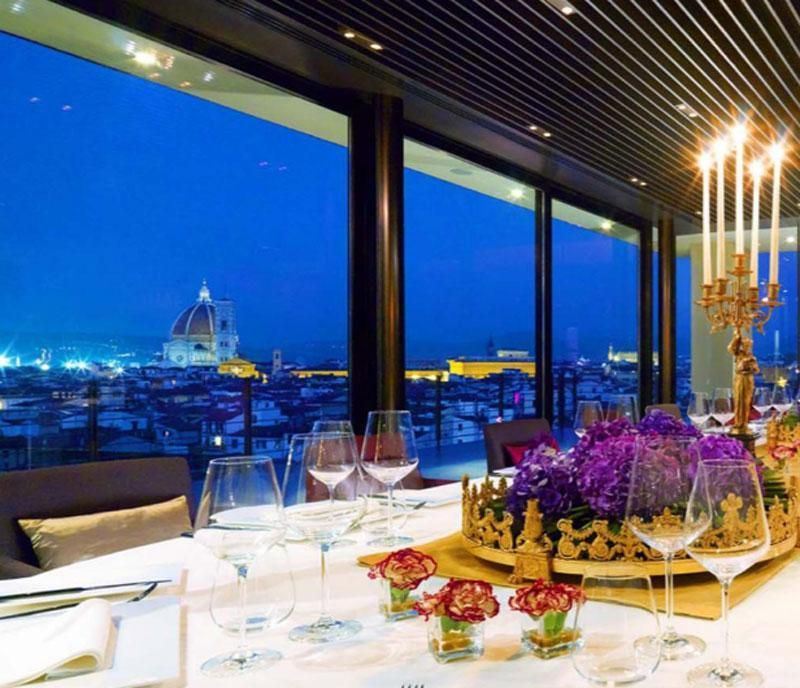 dmc florence for groups and incentives - gala dinner with a view