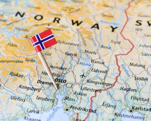 map norway