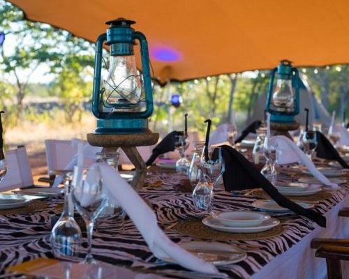 event idea zambia dining in the bush