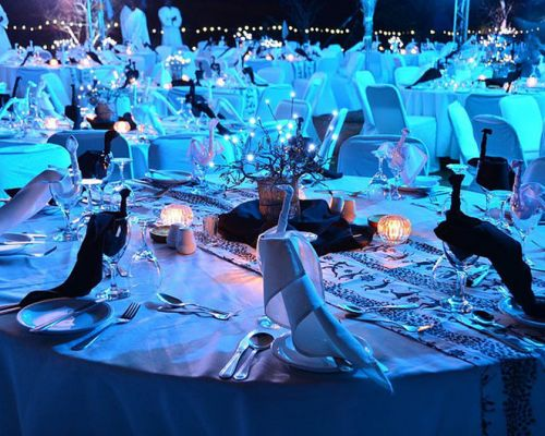 incentive zambia gala dinner setting