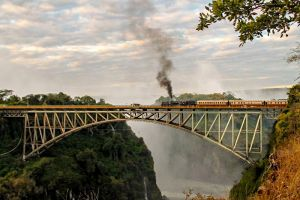program idea steam train Victoria Falls