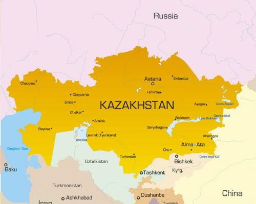 map kazakhstan