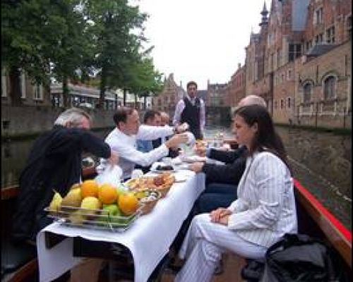 Meeting Belgium Canal Boat Lunch